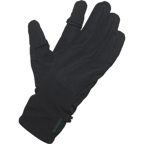 Freehands Men's Softshell Photo Gloves (Small, Black) 11351MS