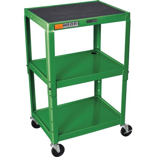 H. Wilson W42A Adjustable Steel AV Cart with 3 Shelves W42AG