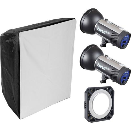 Hensel Expert D1000 2-Light Kit with Chimera Softbox 541110C