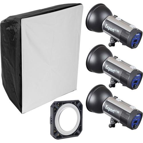 Hensel Expert D1500 3-Light Kit with Chimera Softbox 541115C