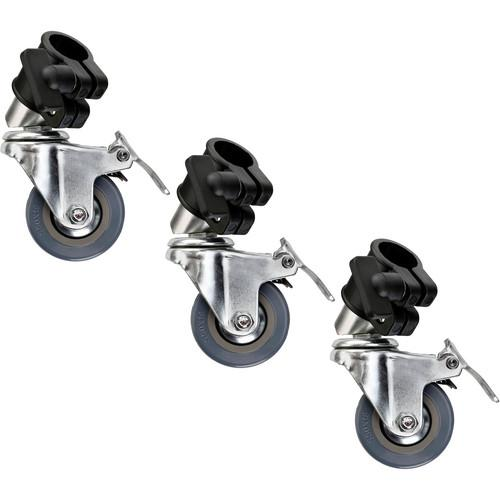 Impact  22mm Locking Casters (Set of 3) LSA-LW22