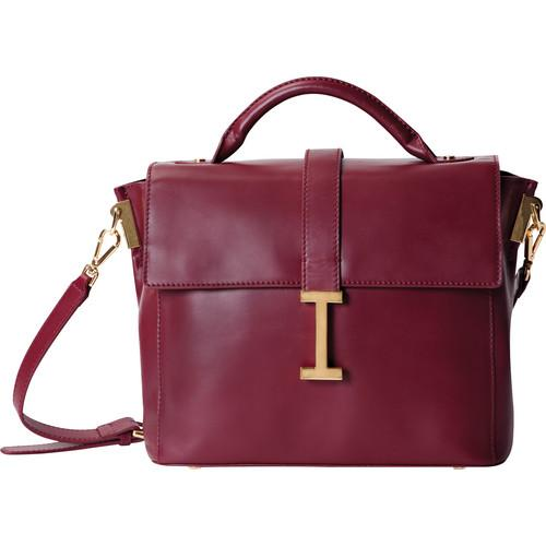 ISAAC MIZRAHI The Liz Camera Satchel (Burgundy) IM42854-BG