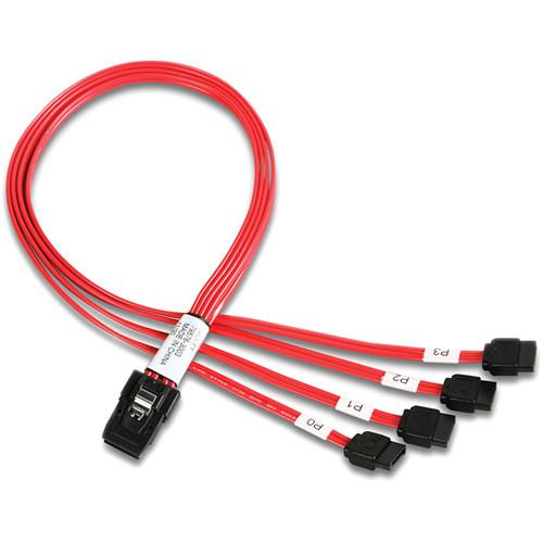 iStarUSA 4 SATA to Internal Mini SAS Cable (1.64') ATC-MLSATA