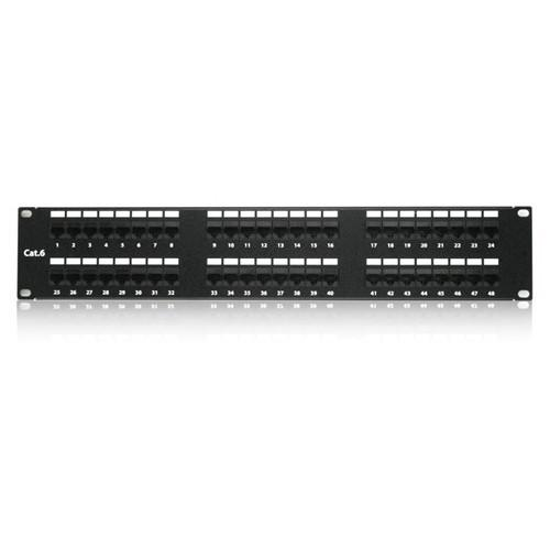 iStarUSA  48 Port 2U Patch Panel WA-PP48-C6