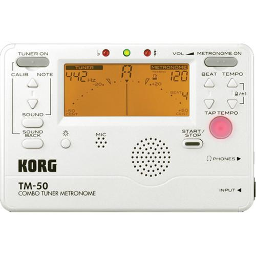Korg TM-50 Combination Tuner & Metronome (White) TM50PW