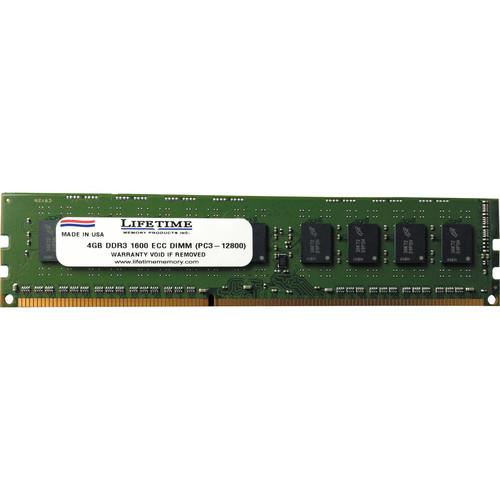 Lifetime Memory 4GB PC3-12800 ECC DIMM Dual Inline 10308-4ECC