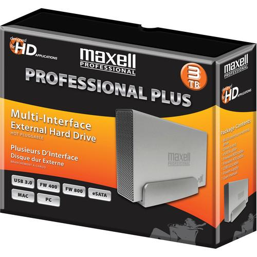 Maxell 665386 3TB Professional Plus Multi-Interface 665386