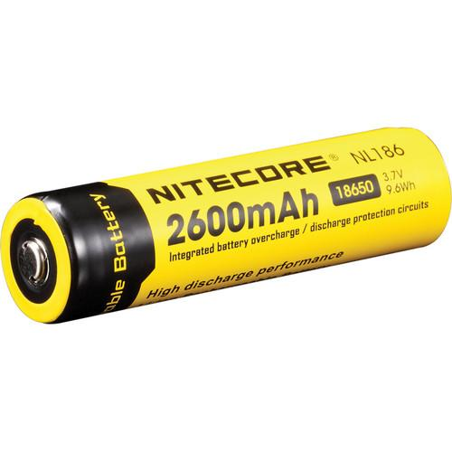 NITECORE 18650 Li-Ion Rechargeable Battery (3.7V, 2600mAh) NL186