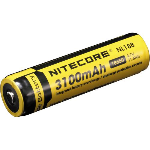 NITECORE 18650 Li-Ion Rechargeable Battery (3.7V, 3100mAh) NL188