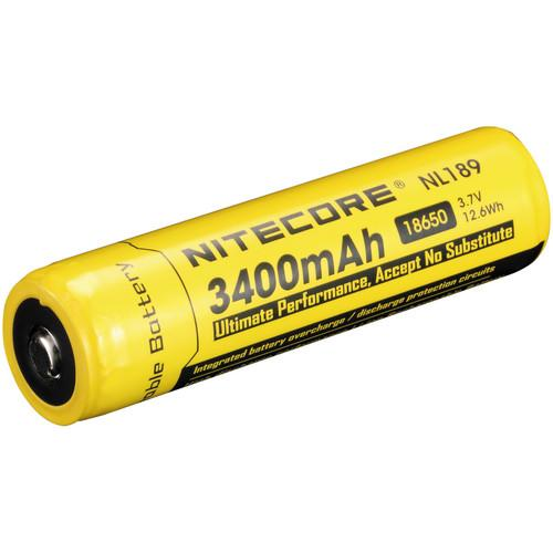 NITECORE 18650 Li-Ion Rechargeable Battery (3.7V, 3400mAh) NL189