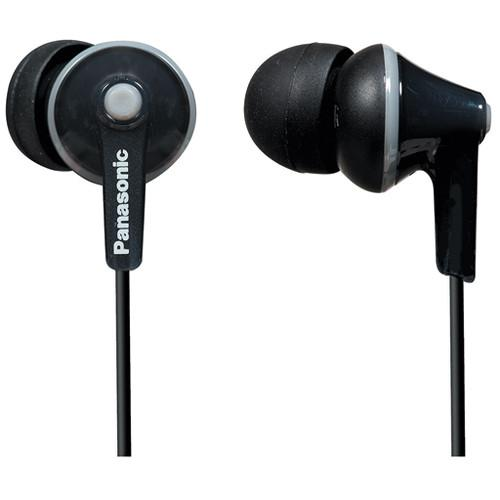 Panasonic ErgoFit In-Ear Headphones (Black) RP-TCM125-K