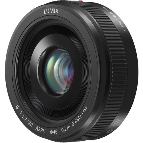 Panasonic LUMIX G 20mm f/1.7 II ASPH. Lens (Black) H-H020AK