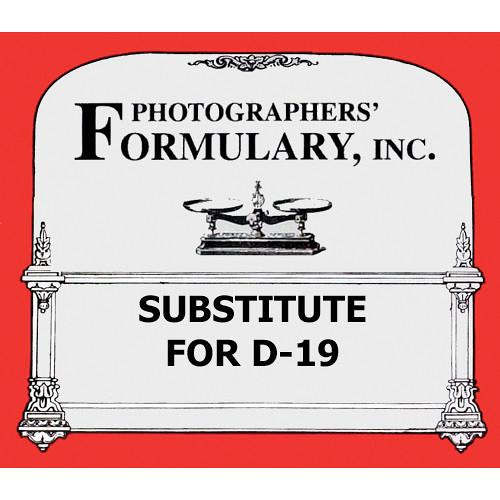 Photographers' Formulary Substitute for D-19 Black & 01-0036