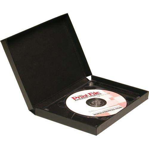 Print File Single CD Clamshell Folios (Black) 530-0010