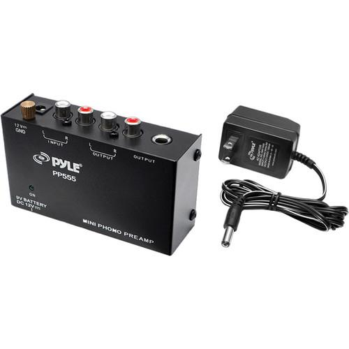 Pyle Pro PP555 Ultra-Compact Phono Turntable Pre-Amplifier PP555