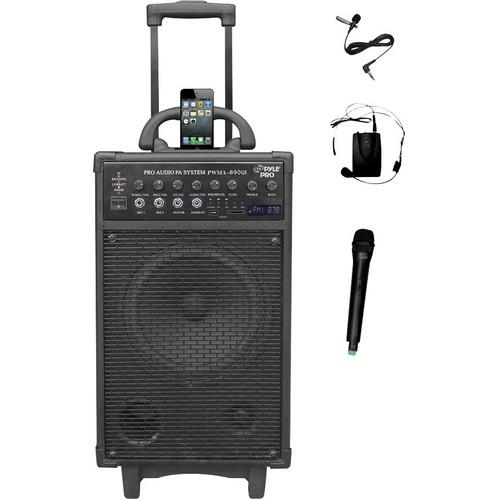 Pyle Pro PWMA890UI 500W Dual-Channel Wireless Portable PWMA890UI