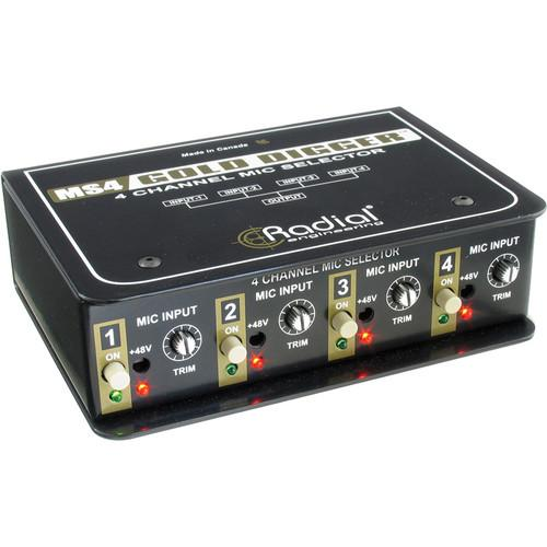Radial Engineering Gold Digger 4-Channel Mic Selector R800 1440