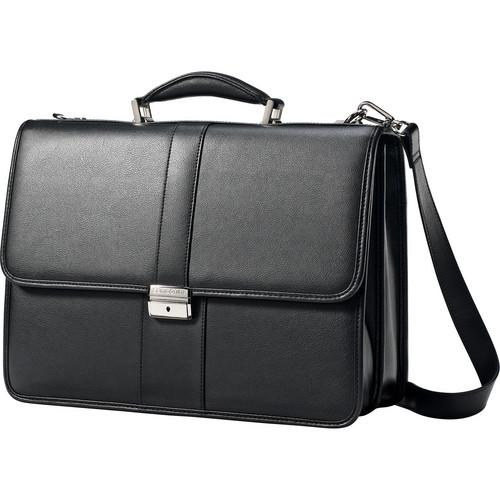 Samsonite Leather Flapover Case (Black) 43120-1041
