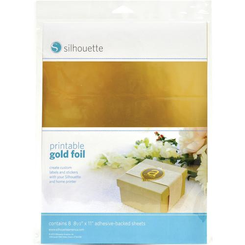 silhouette Printable Adhesive Gold Foil MEDIA-GLD-ADH