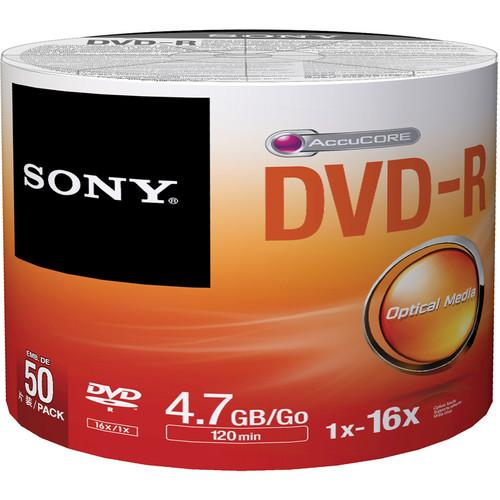 Sony DVD-R 4.7GB Recordable Media (50 Discs, Bulk) 50DMR47SB/US