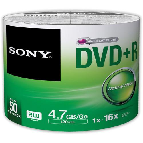 Sony DVD R 4.7GB Recordable Media Spindle (50 Discs)