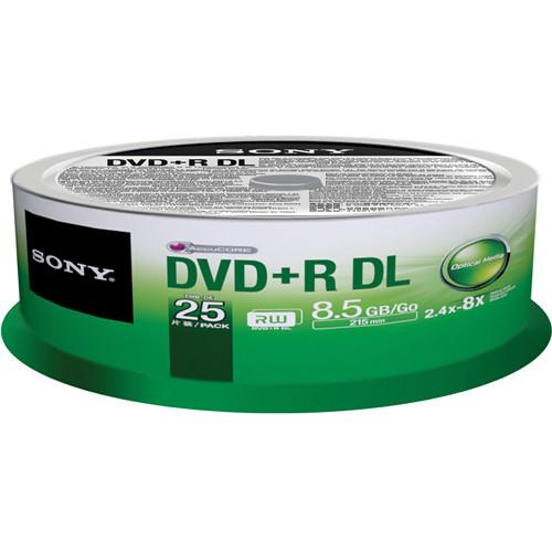 Sony DVD R 8.5 GB Dual Layer Recordable Discs 25DPR85SP/US