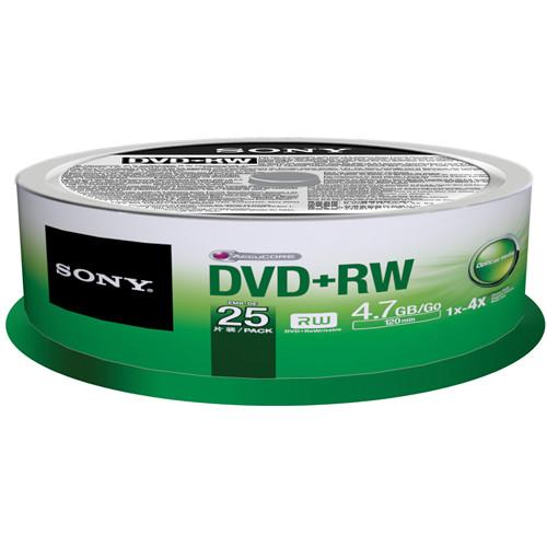 Sony  DVD RW 4.7 GB Recordable Discs 25DPW47SP