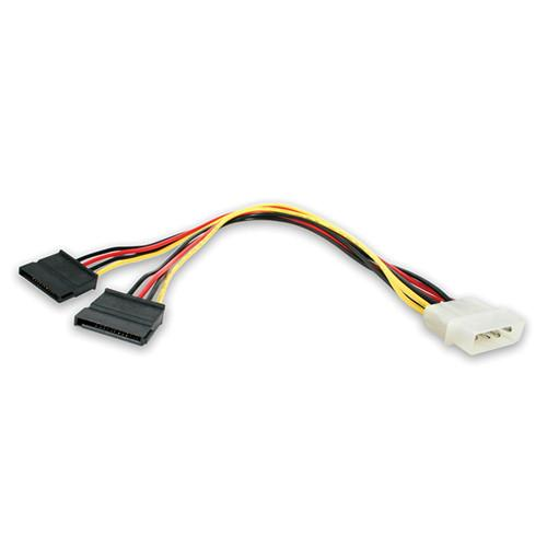 StarTech LP4 Male to 2x SATA Power Cable Y Adapter PYO2LP4SATA