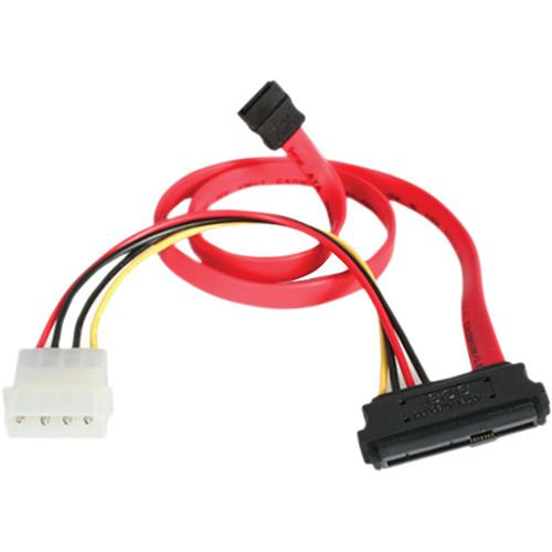 StarTech SAS 29 Pin to SATA Cable with LP4 Power SAS729PW18