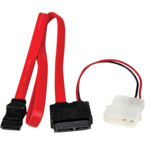 StarTech Slimline SATA to SATA with LP4 Power Cable SLSATAF20