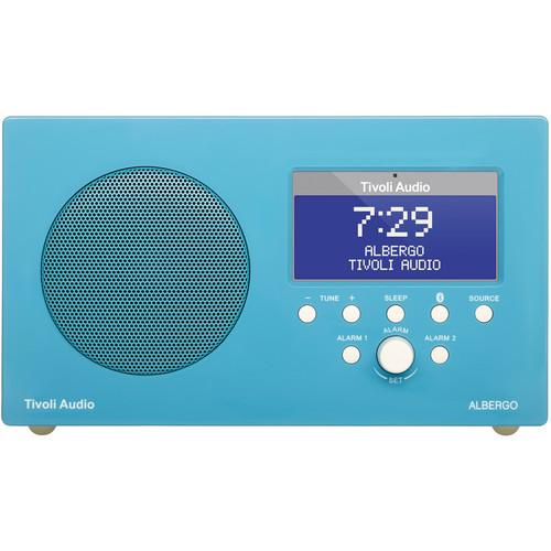 Tivoli Albergo Clock Radio (Gloss Blue/White) ALBGBL