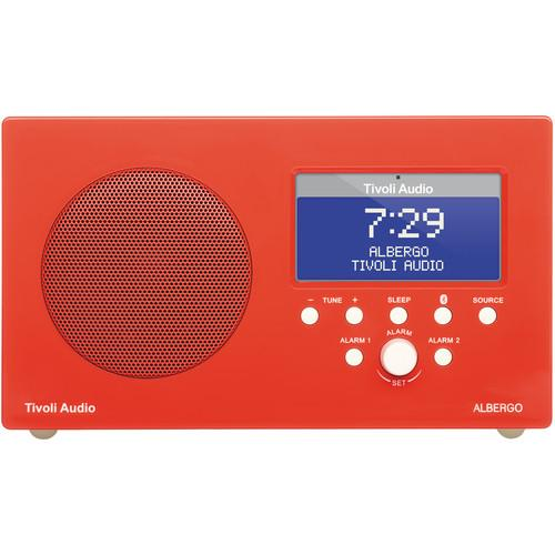 Tivoli Albergo Clock Radio (Gloss Red/White) ALBGRD