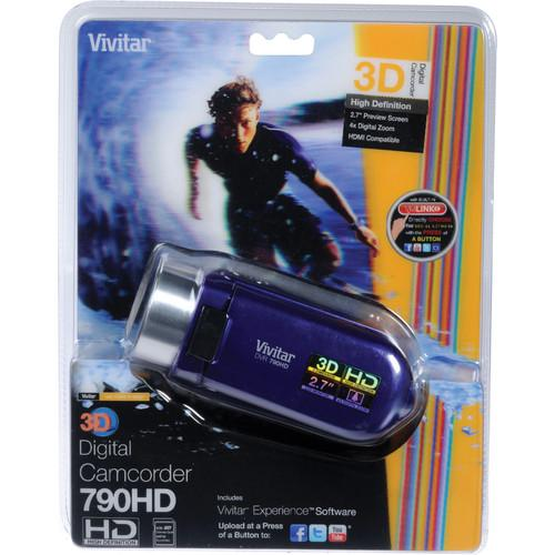 Vivitar DVR 790HD 3D Digital Video Recorder (Grape) DVR790HD-GRP