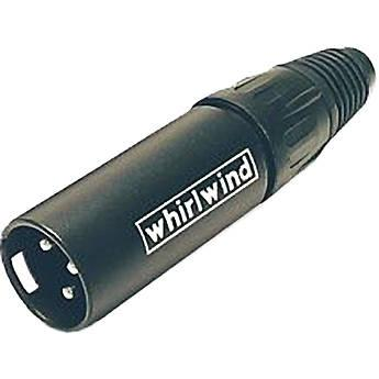 Whirlwind Inline Male XLR Connector (Black) WI3M-BK