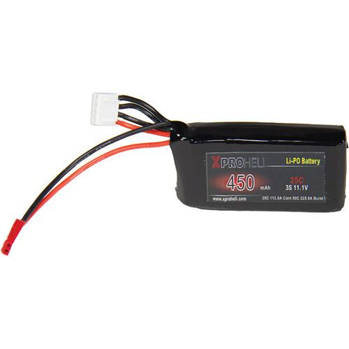 XProHeli 11.1V, 450mAh 3S 25C LiPo Battery for Small XPG XPH450