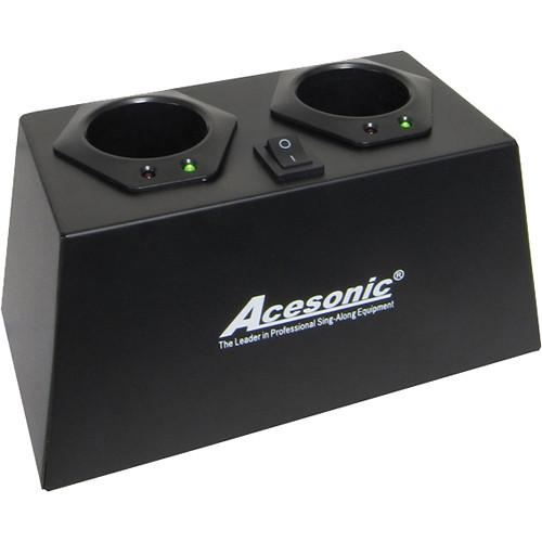Acesonic USA Dual Charging Station For UHF-A6 CSA6-2