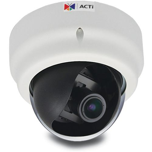ACTi D61A 1.3MP IP Indoor Dome Camera with SLLS, Audio D61A