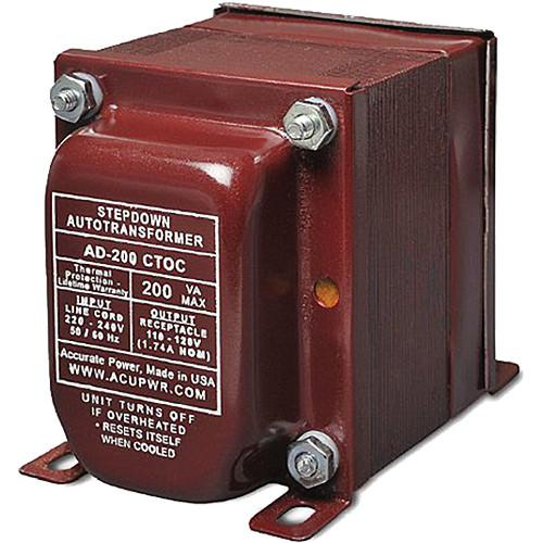 ACUPWR AD-200 CTOC Step Down Transformer (200W) AD-200 CTOC
