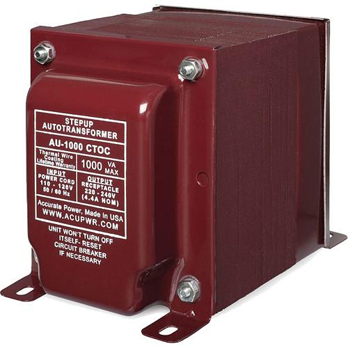 ACUPWR AU-1000 CTOC Step Up Transformer (1000W) AU-1000 CTOC