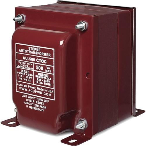 ACUPWR AU-500 CTOC Step Up Transformer (500W) AU-500 CTOC