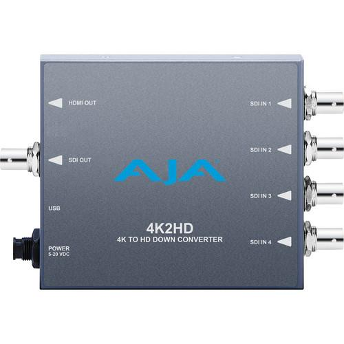 AJA 4K2HD 4K/UHD to 3G/HD/SD-SDI and HDMI Downconverter 4K2HD