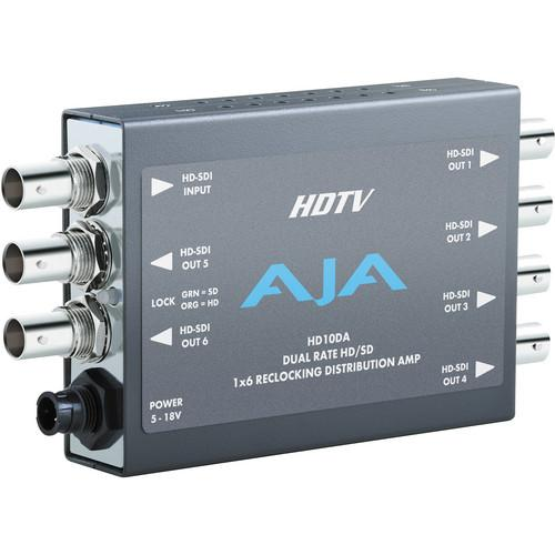 AJA HD10DA 1x6 HD/SD-SDI Re-Clocking Distribution Amp HD10DA