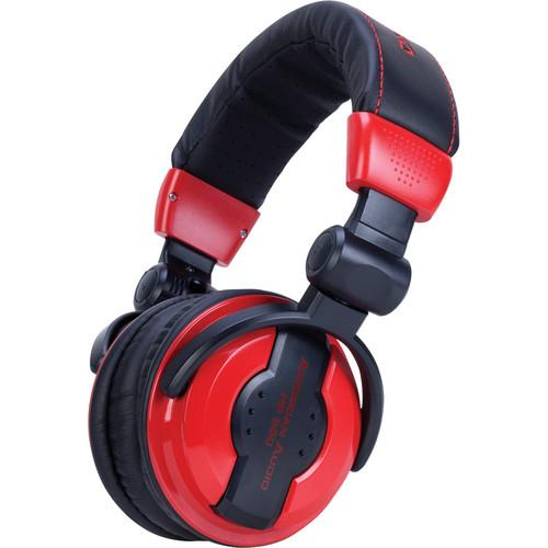 American Audio HP 550 Pro DJ Headphones (Lava) HP 550 LAVA