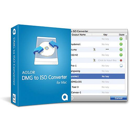 Aolor Software DMG to ISO Converter for Mac DMGTOISOMAC