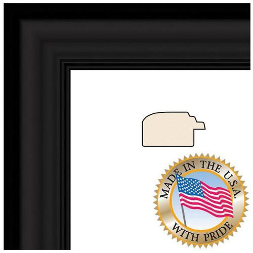 ART TO FRAMES 1418 Satin Black Step Lip Photo Frame WOM10035-8X8