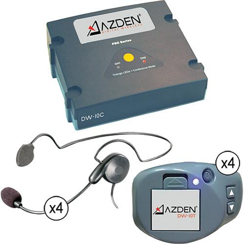 Azden DW-1000 4 Channel Wireless Headset System DW-1000