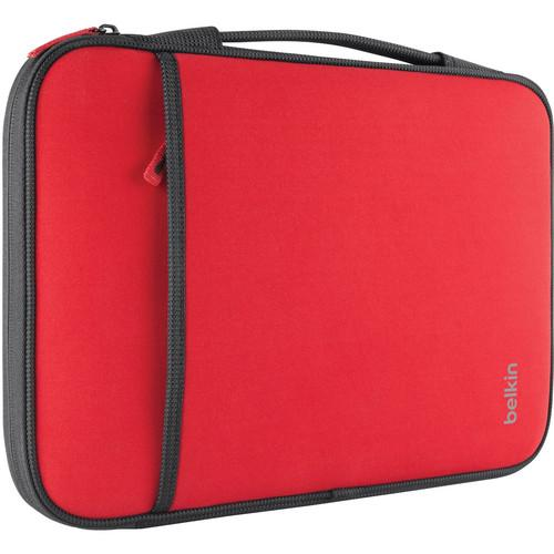 Belkin Laptop/Chromebook Sleeve (Red, 11