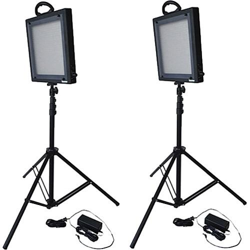 Bescor  FP-500K Bi-Color LED Two Light Kit FP500K