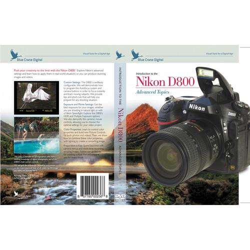Blue Crane Digital DVD: Introduction to the Nikon D800: BC152