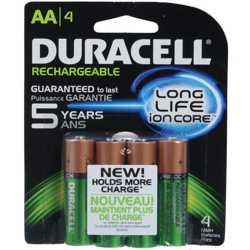 Duracell AA NiMH Pre-Charged Rechargeable Batteries DX1500B4N